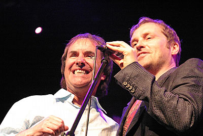Chris de Burgh and Ardal O'Hanlon at An Audience Without Dermot Morgan