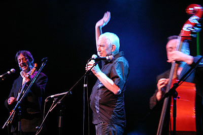Dermot Carmody, Shay Healy and Morgan C Jones at An Audience Without Dermot Morgan